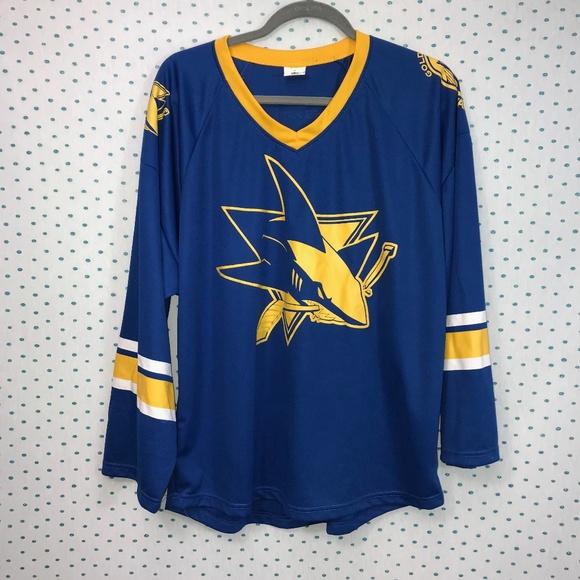 buy online e8254 66c8f San Jose Sharks x Golden State Warriors Jersey
